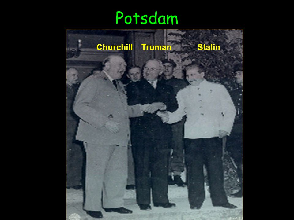 Potsdam Churchill Truman Stalin