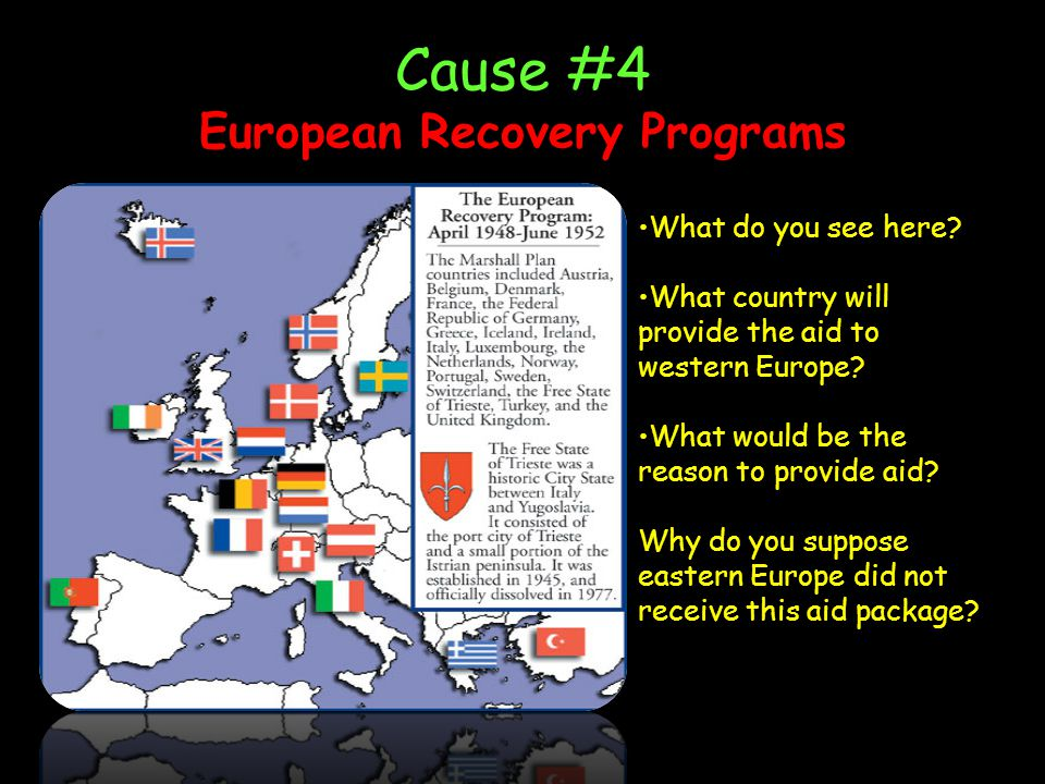 Cause #4 European Recovery Programs