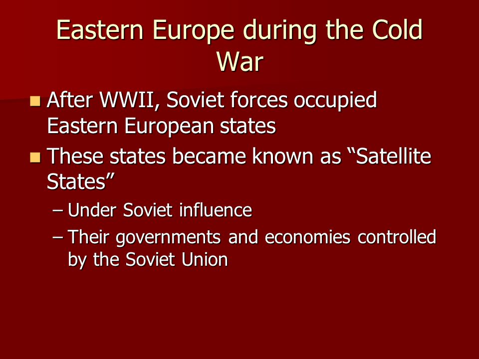 Eastern Europe during the Cold War