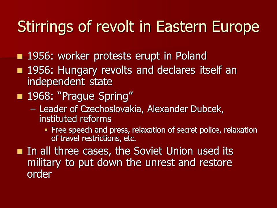 Stirrings of revolt in Eastern Europe
