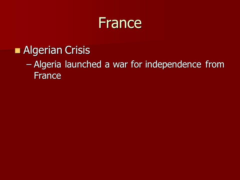 France Algerian Crisis