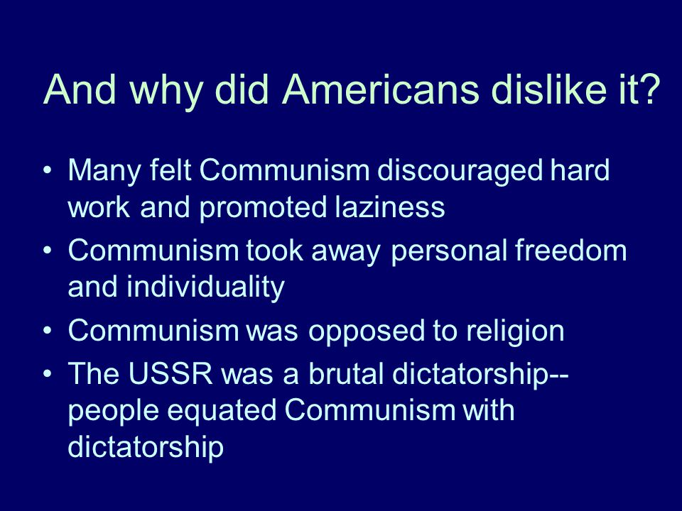 And why did Americans dislike it