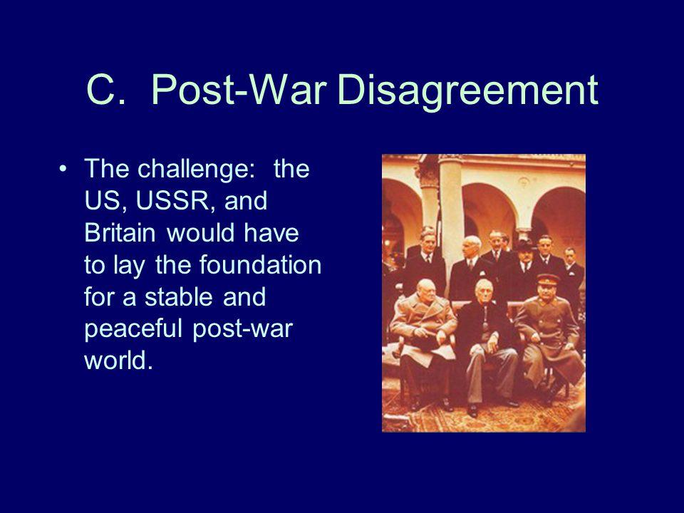 C. Post-War Disagreement