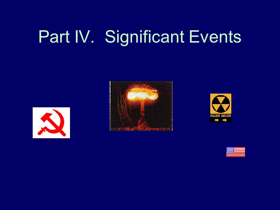 Part IV. Significant Events