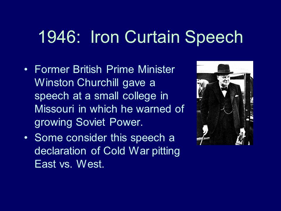 1946: Iron Curtain Speech