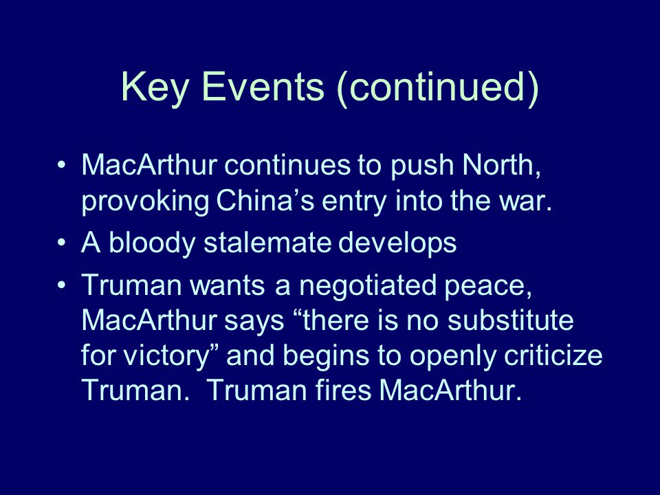 Key Events (continued)