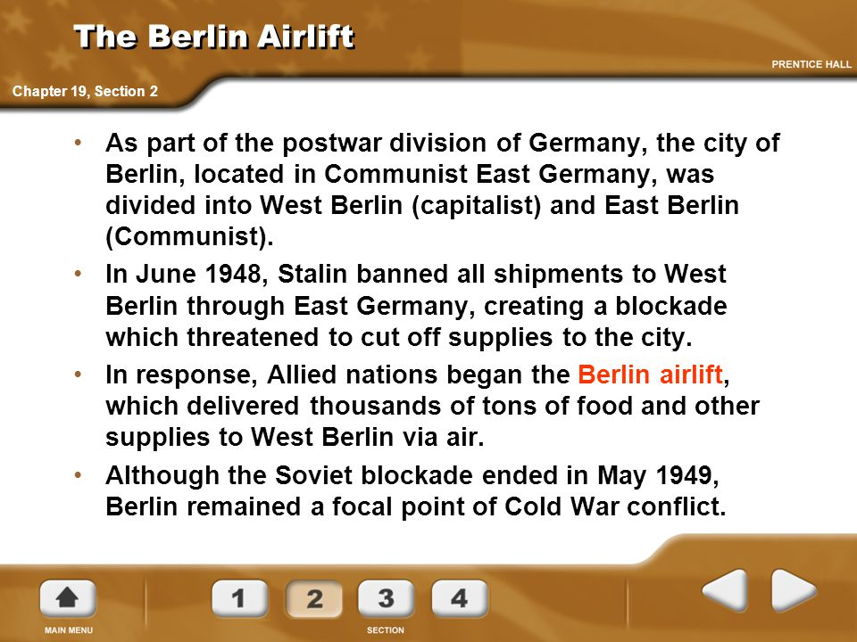 The Berlin Airlift Chapter 19, Section 2.