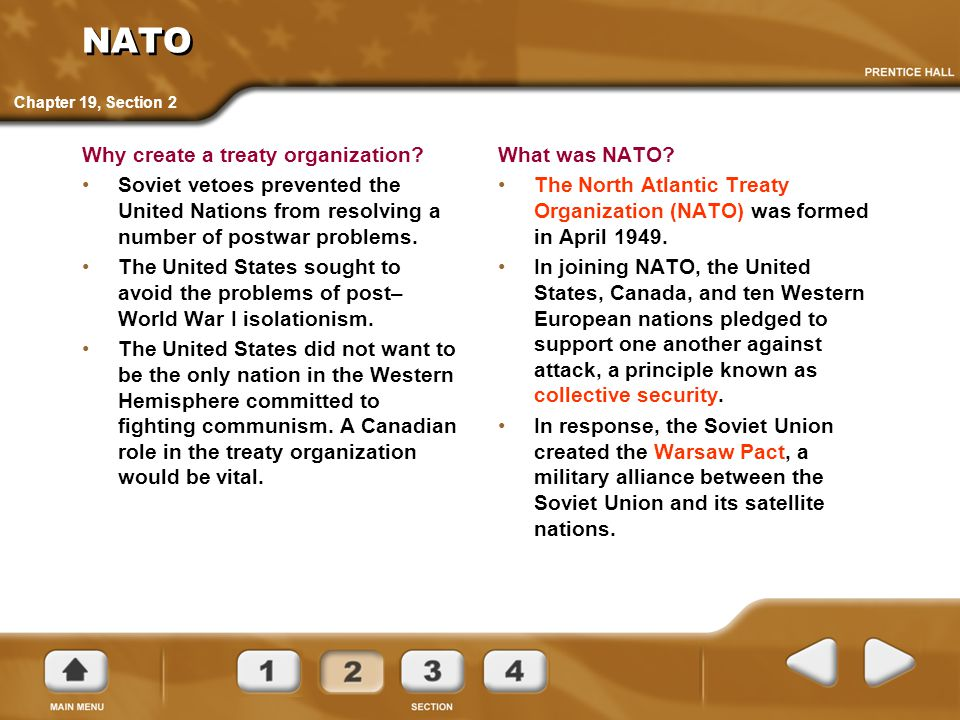 NATO Why create a treaty organization