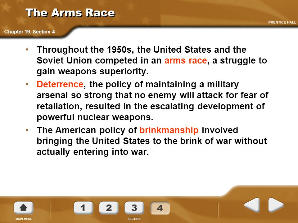 The Arms Race Chapter 19, Section 4.