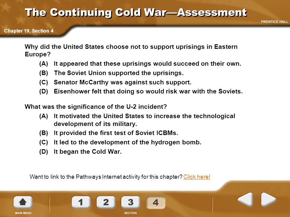 The Continuing Cold War—Assessment