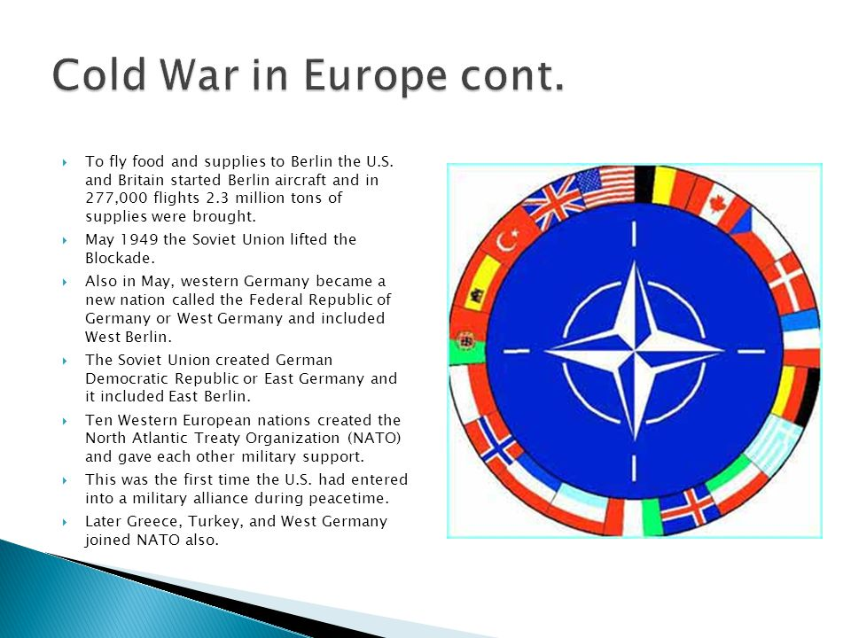 Cold War in Europe cont.