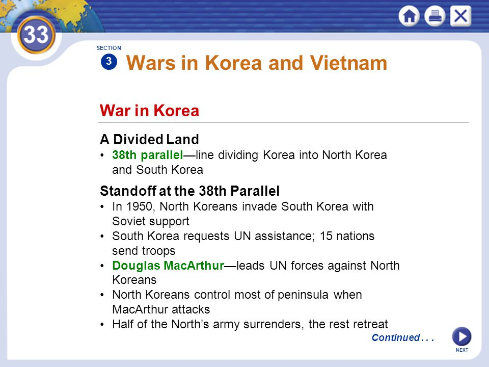 Wars in Korea and Vietnam