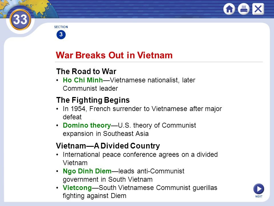 War Breaks Out in Vietnam