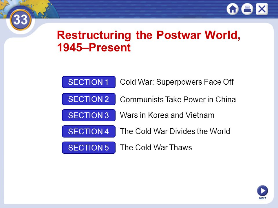 Restructuring the Postwar World, 1945–Present