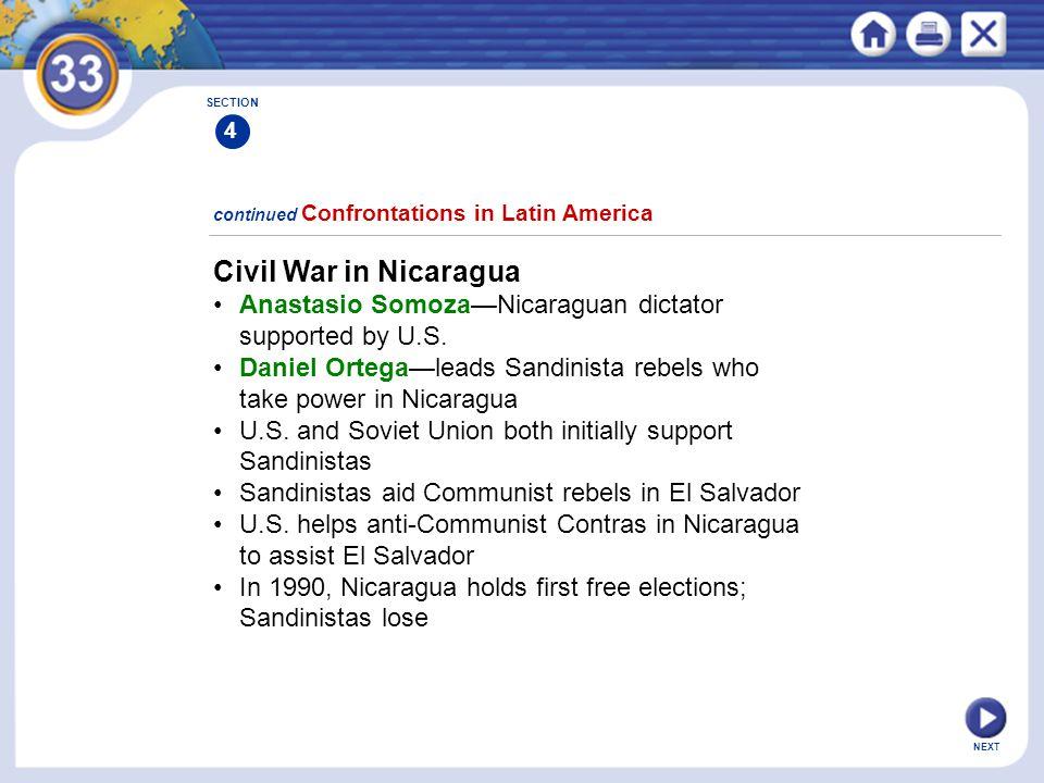 Civil War in Nicaragua • Anastasio Somoza—Nicaraguan dictator