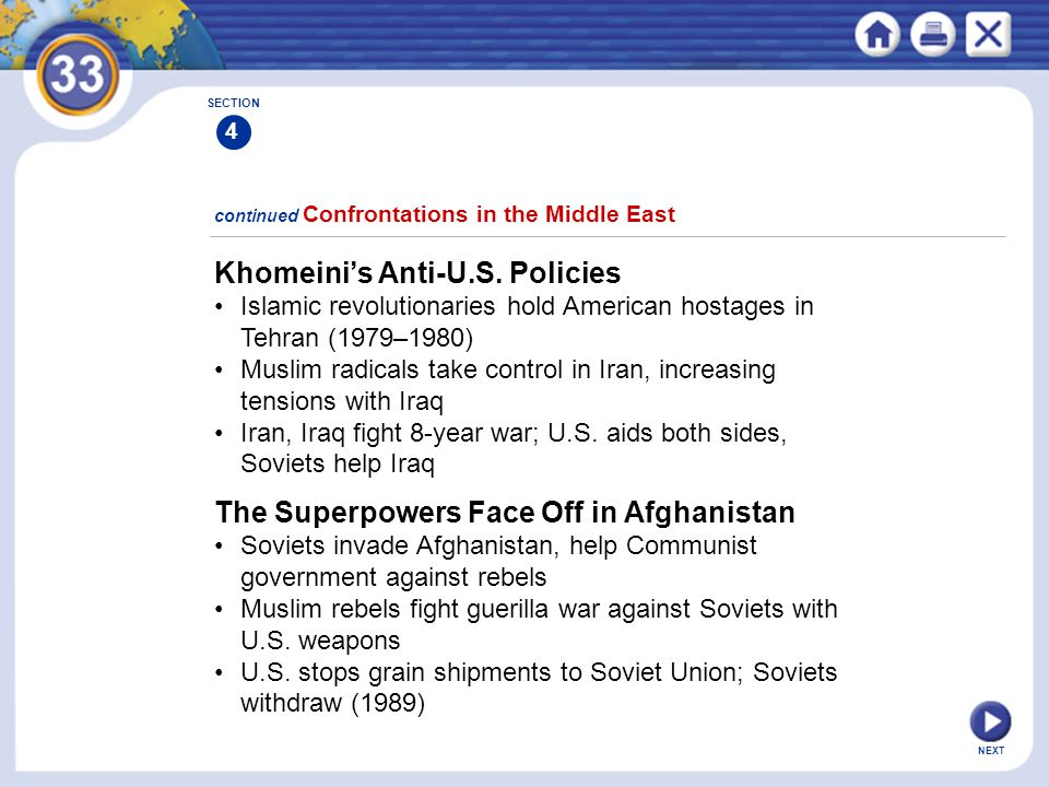 Khomeini's Anti-U.S. Policies