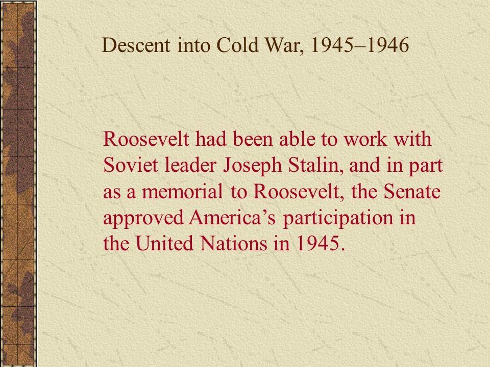 Descent into Cold War, 1945–1946