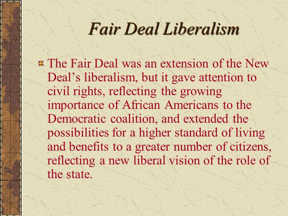 Fair Deal Liberalism