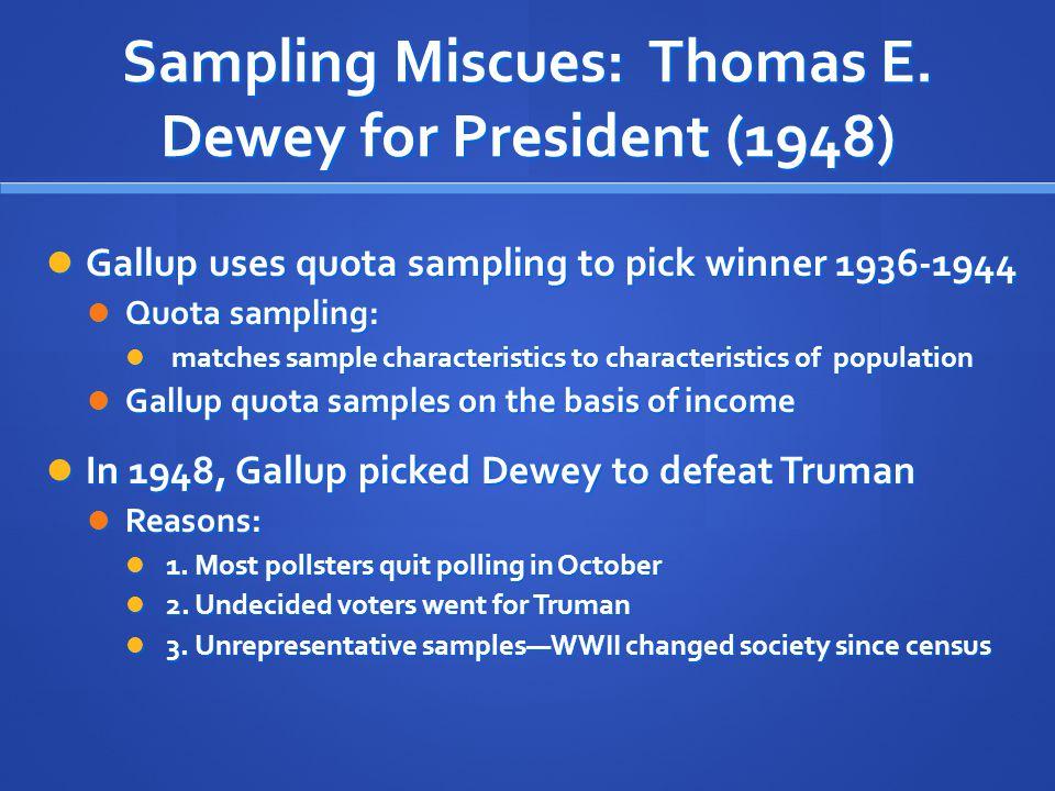 Sampling Miscues: Thomas E. Dewey for President (1948)