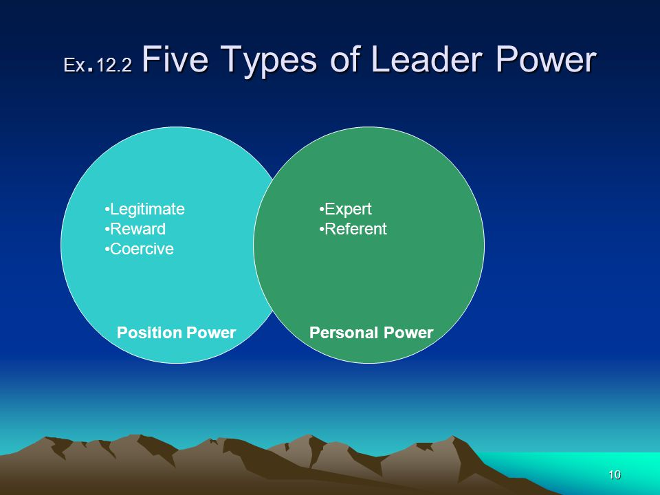 Ex.12.2 Five Types of Leader Power