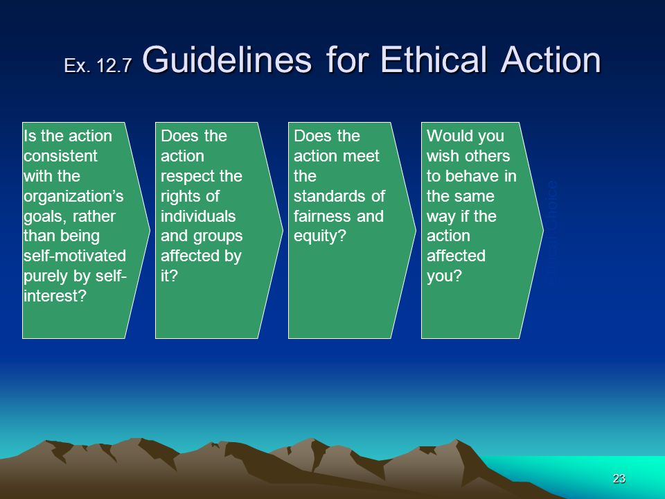 Ex. 12.7 Guidelines for Ethical Action