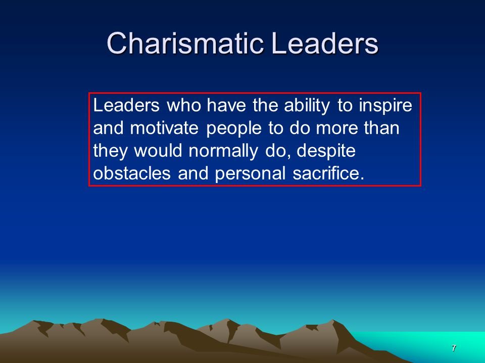 Charismatic Leaders