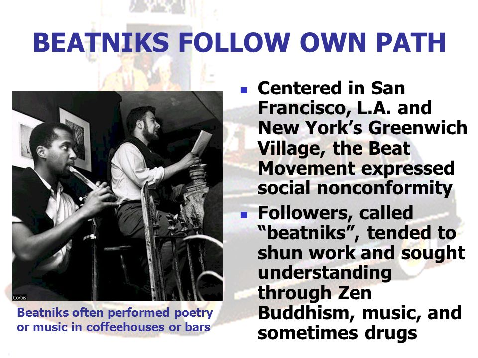 BEATNIKS FOLLOW OWN PATH