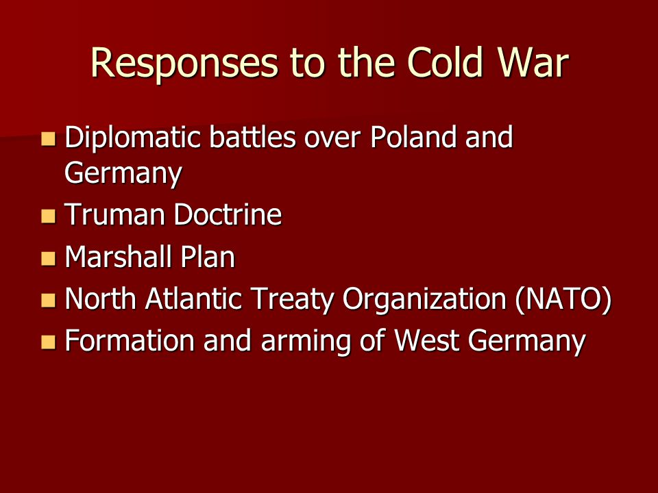 Responses to the Cold War