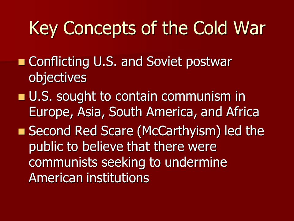 Key Concepts of the Cold War