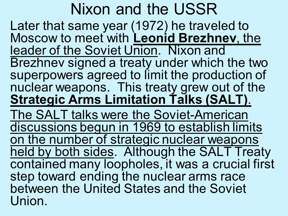 Nixon and the USSR
