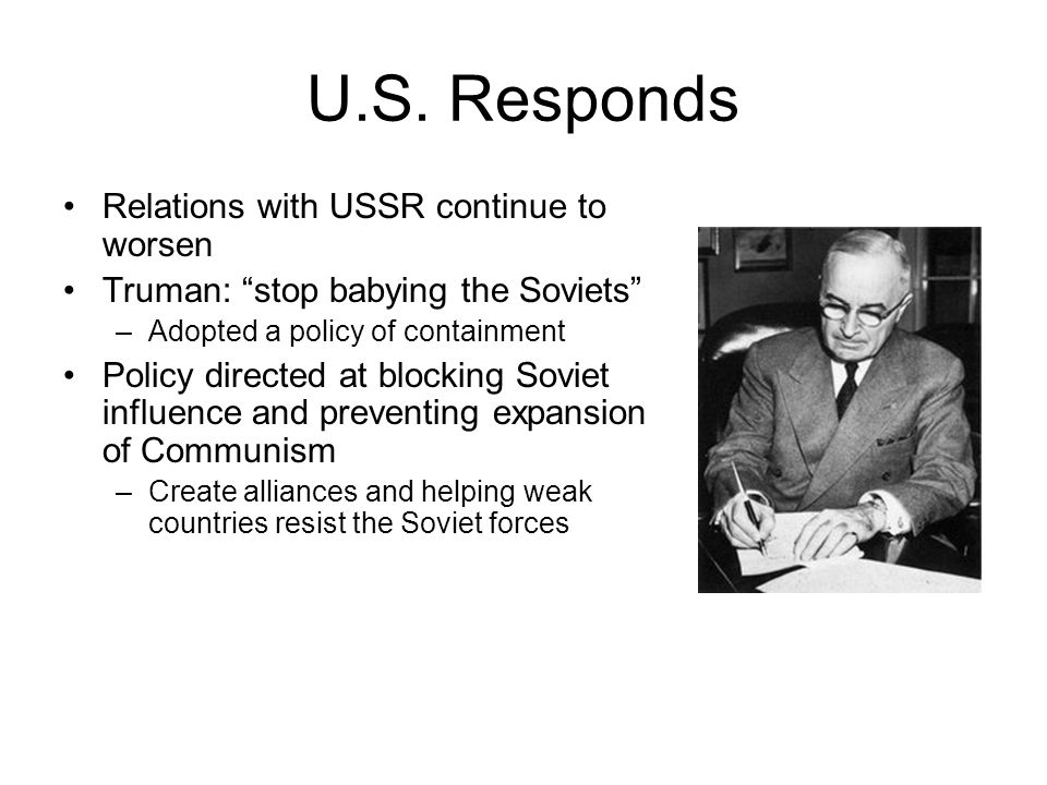 U.S. Responds Relations with USSR continue to worsen
