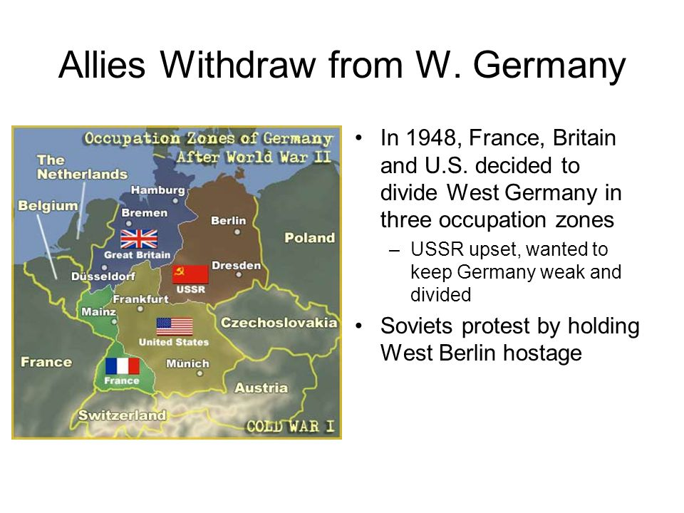 Allies Withdraw from W. Germany