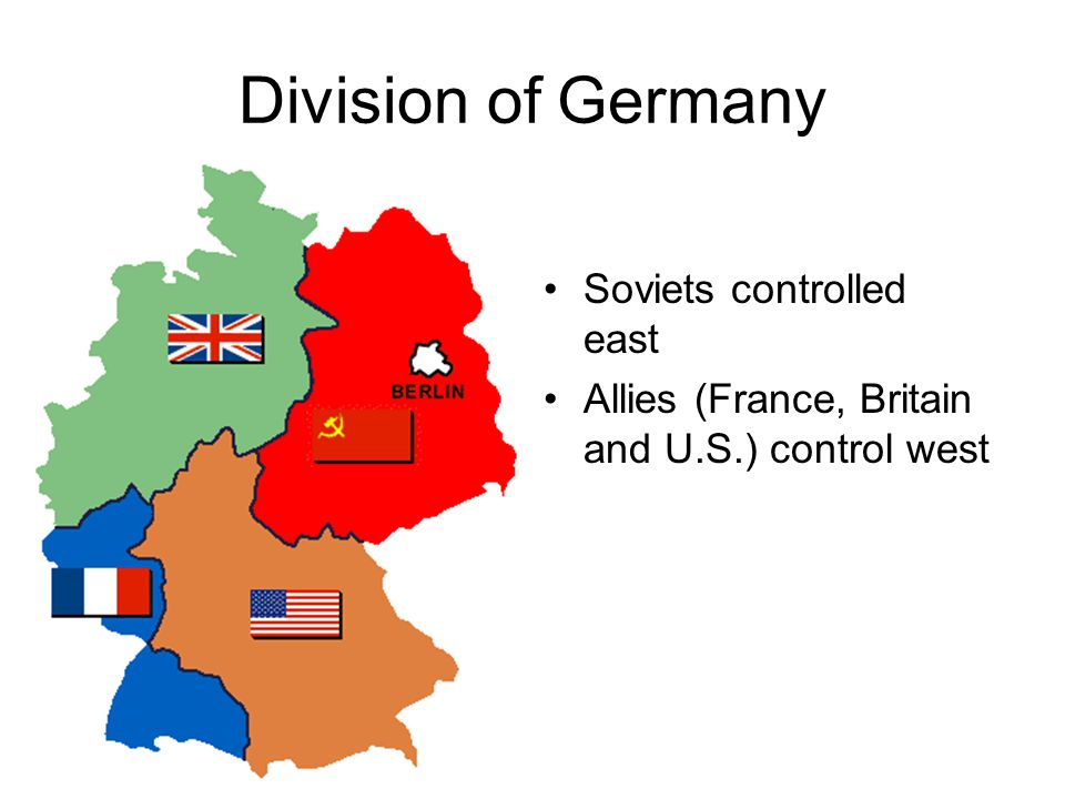 Division of Germany Soviets controlled east