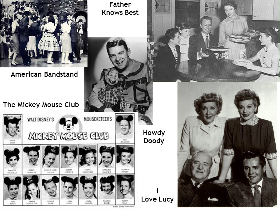 Father Knows Best American Bandstand The Mickey Mouse Club Howdy Doody