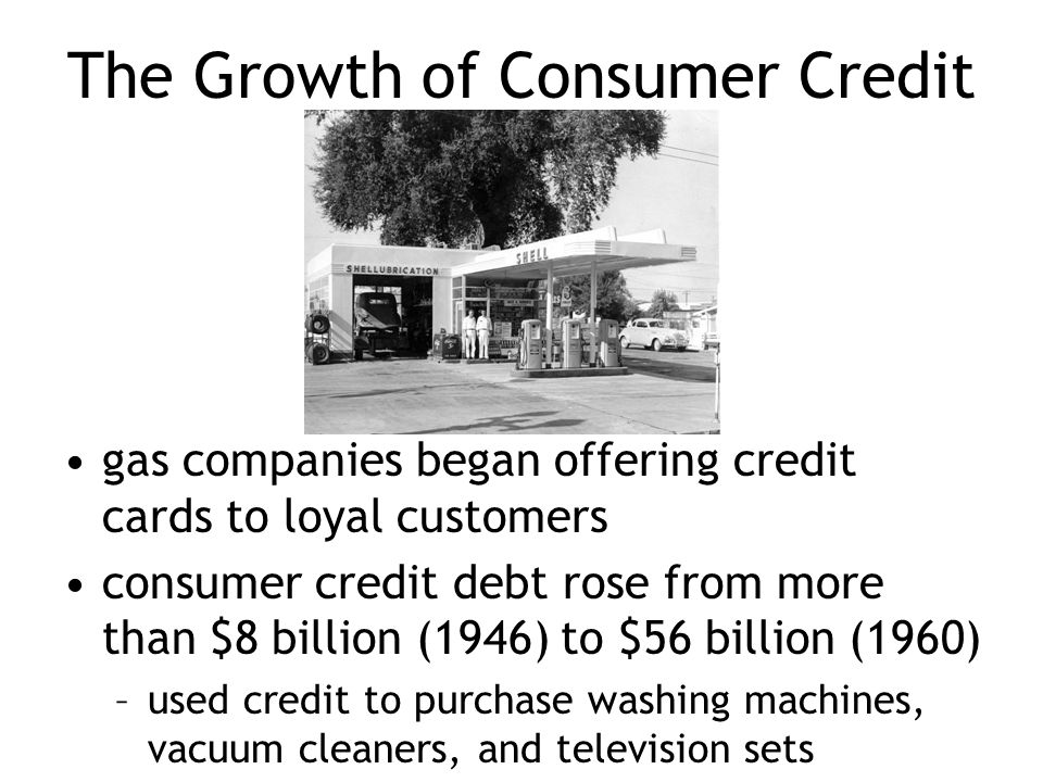 The Growth of Consumer Credit