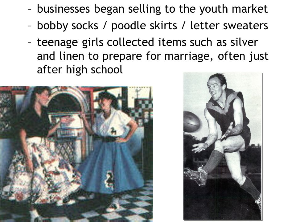 businesses began selling to the youth market