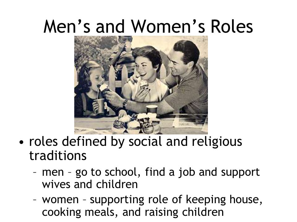 Men's and Women's Roles