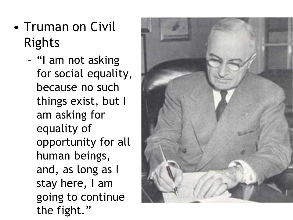 Truman on Civil Rights