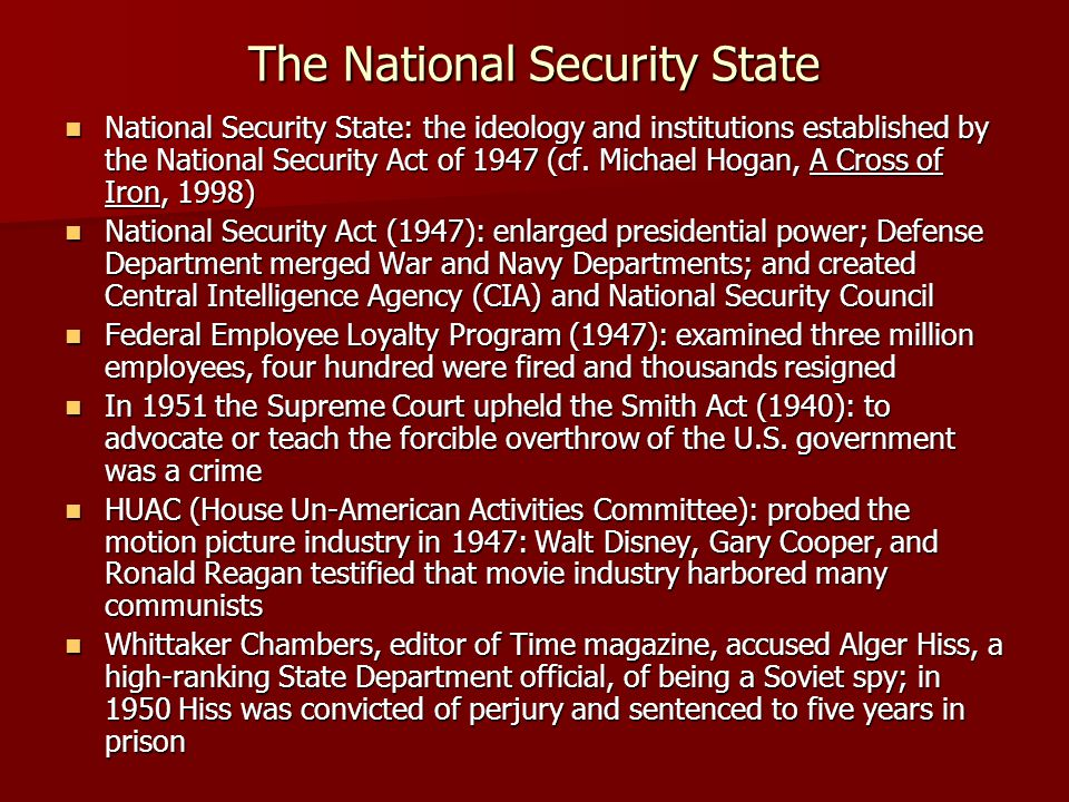 The National Security State