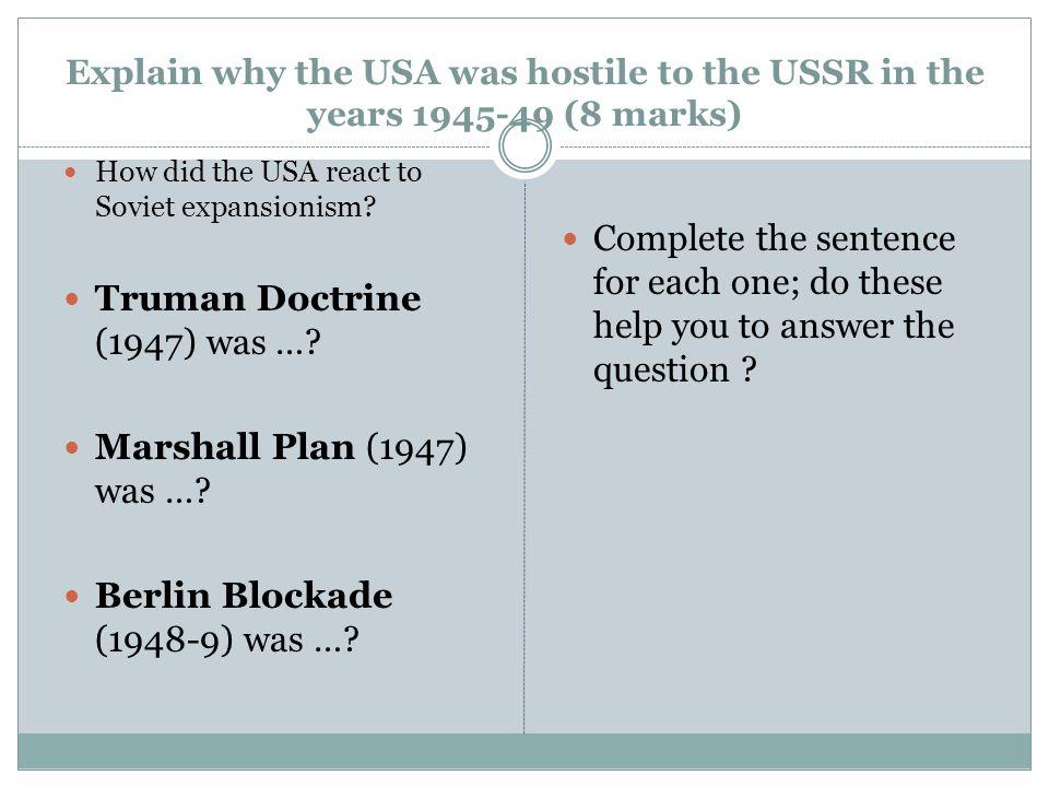 Truman Doctrine (1947) was …