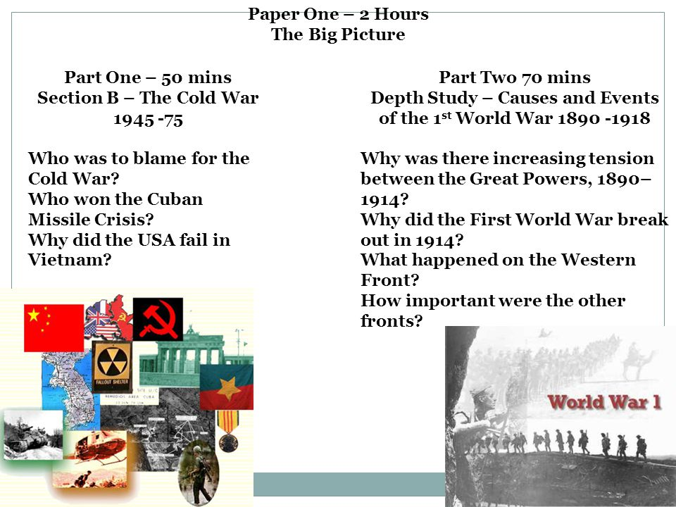 Section B – The Cold War 1945 -75