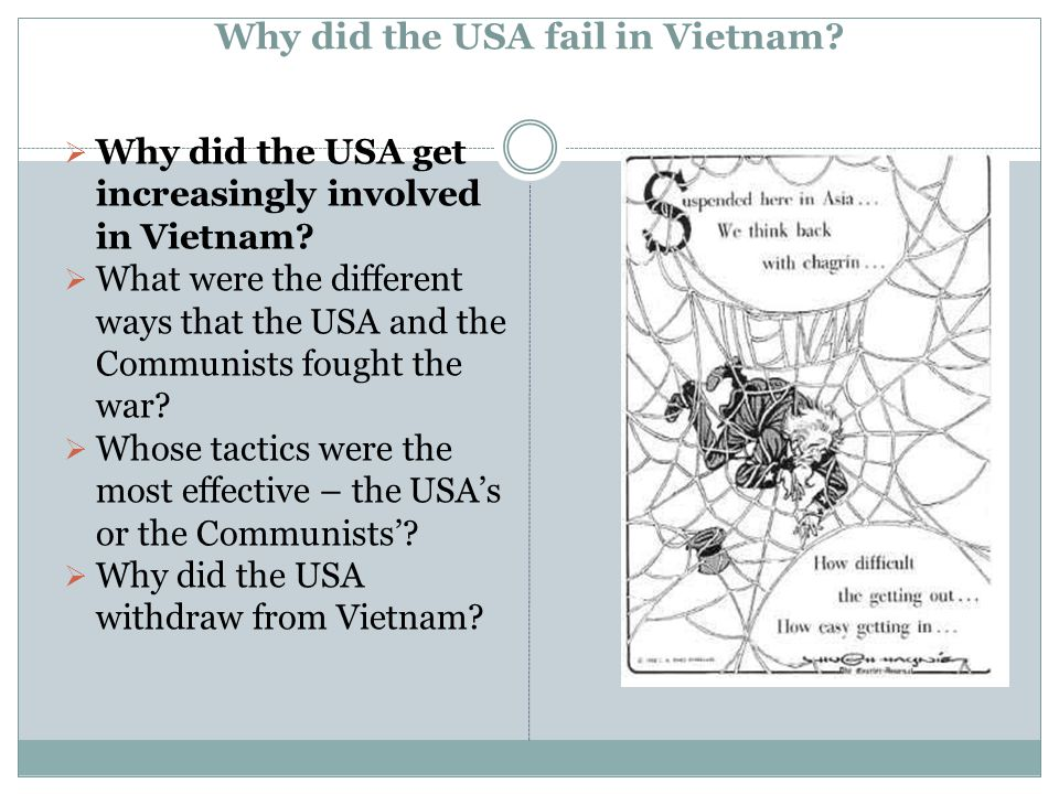Why did the USA fail in Vietnam