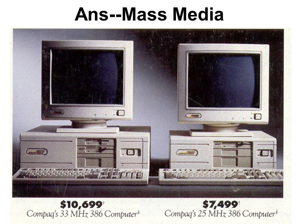 Ans--Mass Media