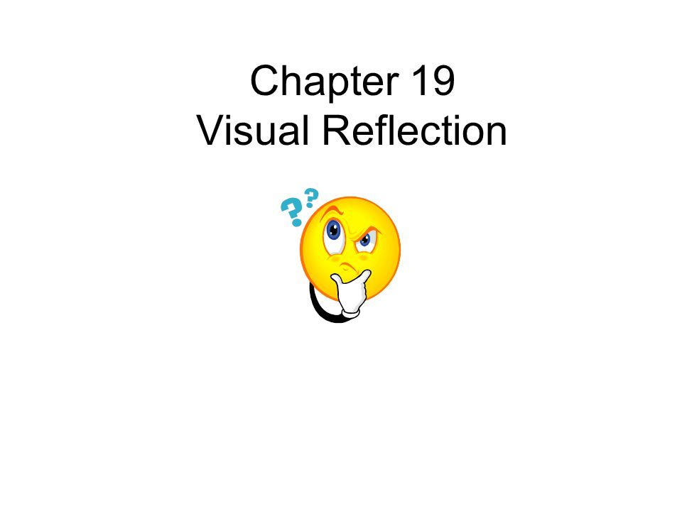Chapter 19 Visual Reflection