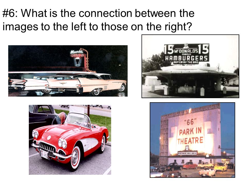 #6: What is the connection between the images to the left to those on the right