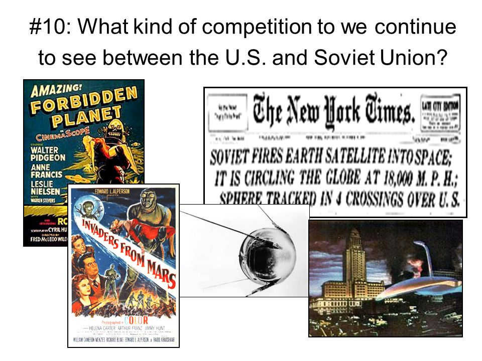 #10: What kind of competition to we continue to see between the U. S