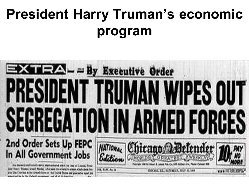 President Harry Truman's economic program