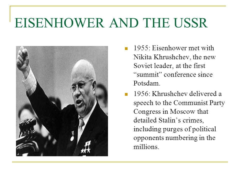 EISENHOWER AND THE USSR