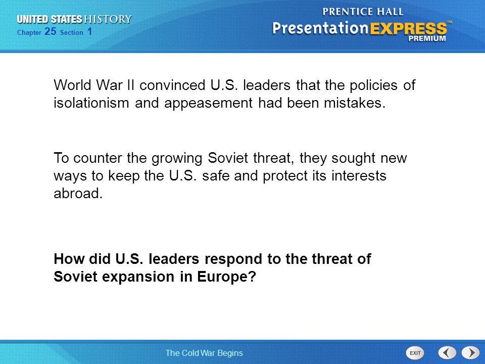 World War II convinced U. S