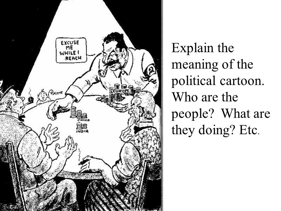 Explain the meaning of the political cartoon. Who are the people